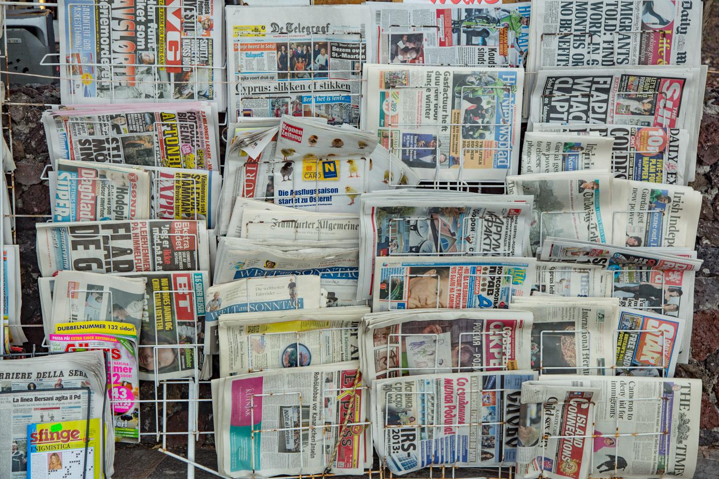 Kranten op Tenerife