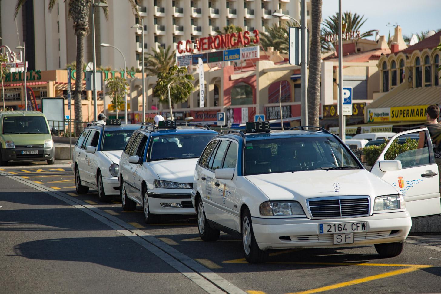 Vervoer op Tenerife, bijvoorbeeld met de taxi
